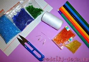Серьги из бисера: схемы плетения длинных сережек своими руками для начинающих