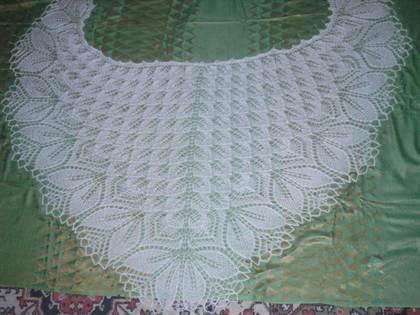 Вязание спицами шаль схема описание фото 813