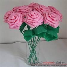 Букеты из цветов салфеток фото
