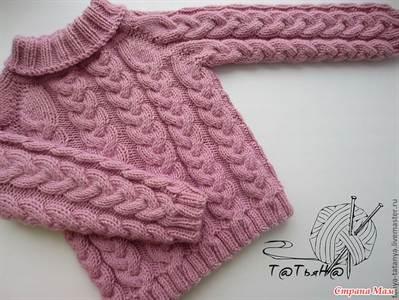 Схемы вязания свитера для девочки 5 лет.