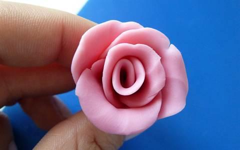 Как сделать из пластилин розу 550