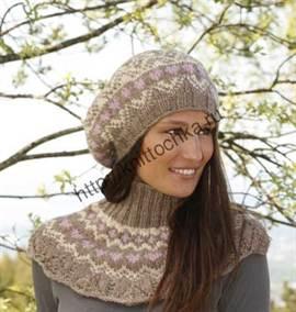 вязание спицами беретов для
