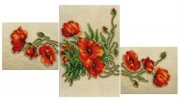 Вышивка бисером по нанесенному рисунку
