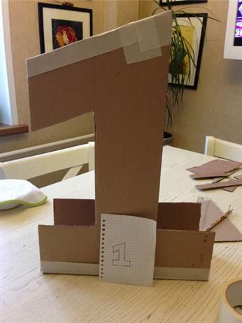 Как сделать единичку на годик своими руками мальчику пошагово без картона 51