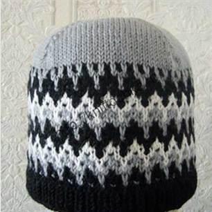 жаккардовый узор на шапке