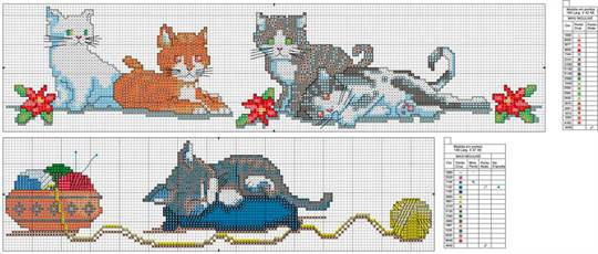Вышивки котята для начинающих