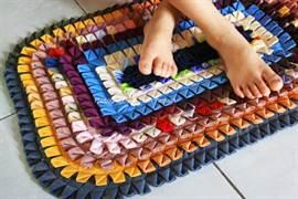 Коврики из лоскутков ткани своими руками видео фото 610