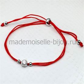 браслет из красной нитки со знаком бесконечность