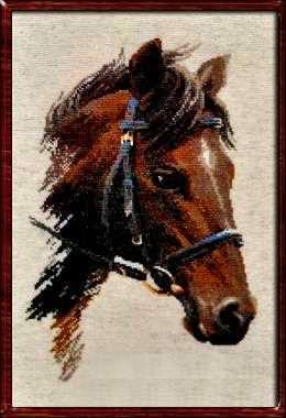 Вышивка крестом схемы голова лошади