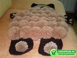 Схемы ковриков из помпонов мастер класс