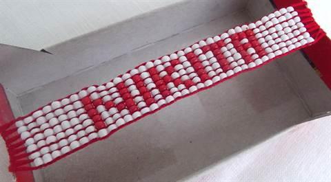 Как сделать из бисера браслет с именем