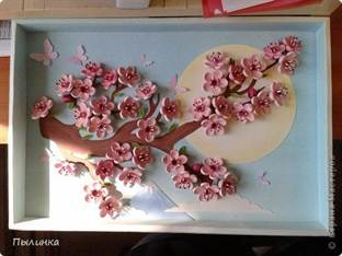 Картины своими руками сакура 33
