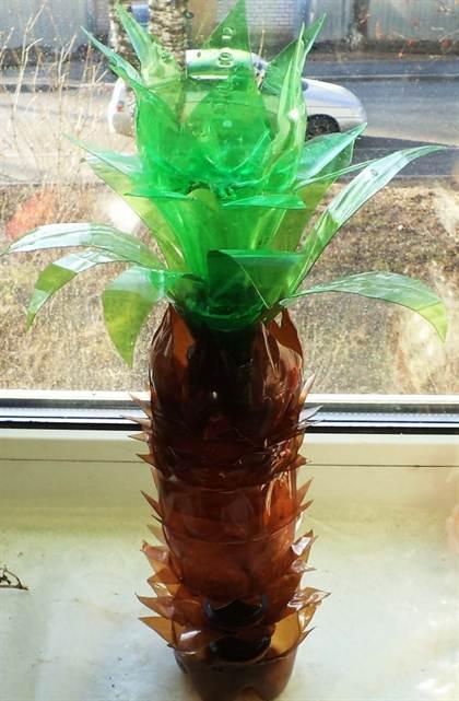 Пальма из пластиковых бутылок своими руками пошагово