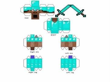Minecraft оригами схемы
