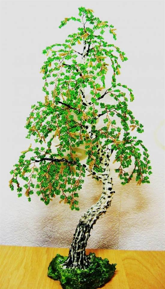 Дерево из бисера своими руками схема и фото