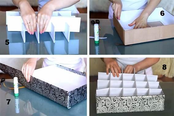 Органайзер для бумаги из коробки как сделать 126