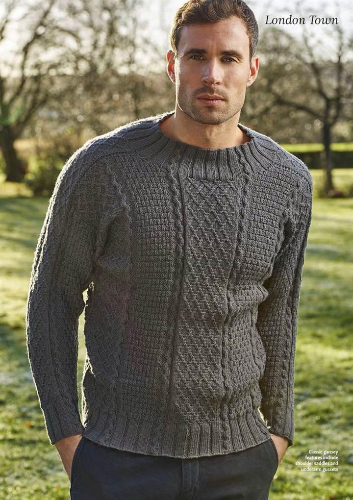 Мужские свитера спицами схемы и описание: 26 тыс изображений