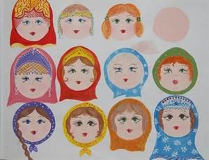 Как нарисовать платок с узорами