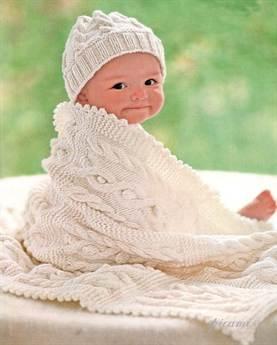 Вязаное одеяло для новорожденного своими руками спицами фото 484
