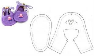Выкройка ботинки для куклы