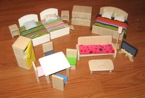 Мебель для кукольных домиков из картона своими руками фото 441