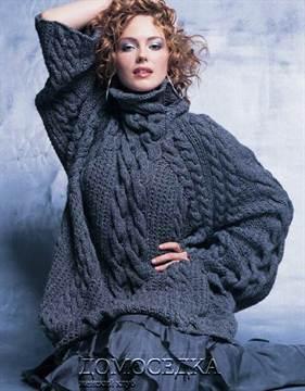 Объемный свитер крупной вязки схема фото 798