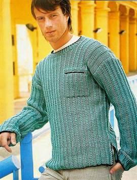 Как связать воротник на свитер спицами