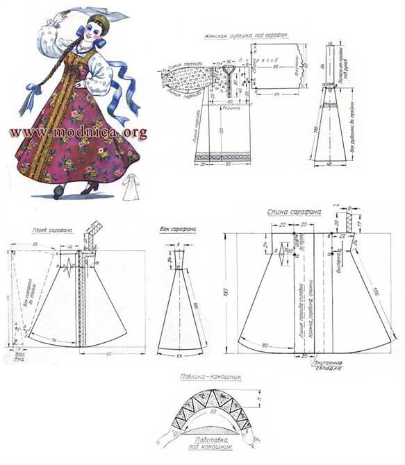 Как сшить русское народное платье