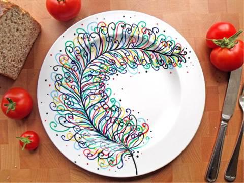 Роспись на тарелках своими руками для начинающих мастер класс фото