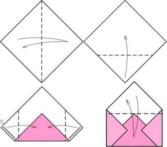 Как сделать конверт из бумаги без клея и ножниц