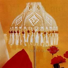 Как связать абажур для торшера, настольной лампы крючком?