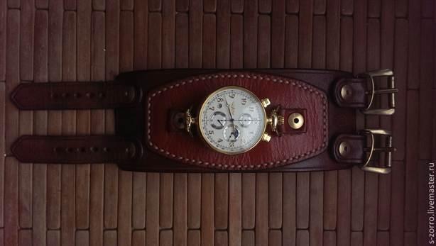 Кожаный браслет для часов своими руками 55