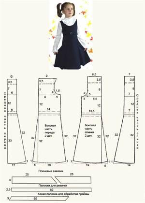 Выкройка сарафана для девочки 8 лет своими руками