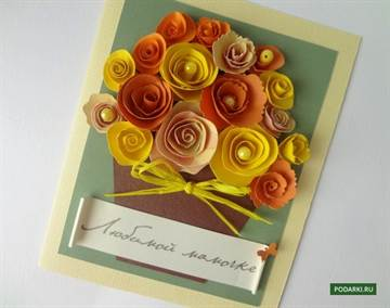 Открытка для бабушки с цветами