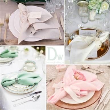 Оформление салфеток на свадьбу 163