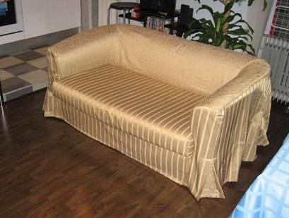 Как сшить чехол с резинками на диван своими руками
