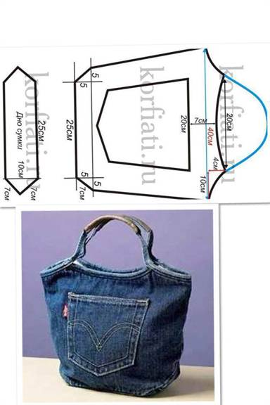 Простая сумка своими руками из джинса