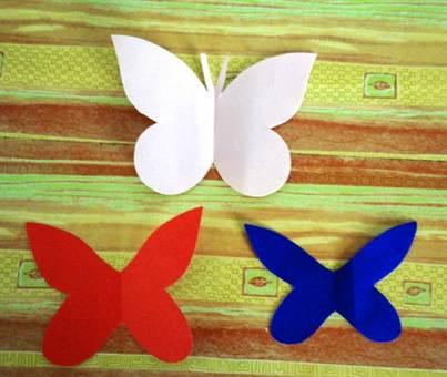 Как сделать аппликацию из бабочек 463