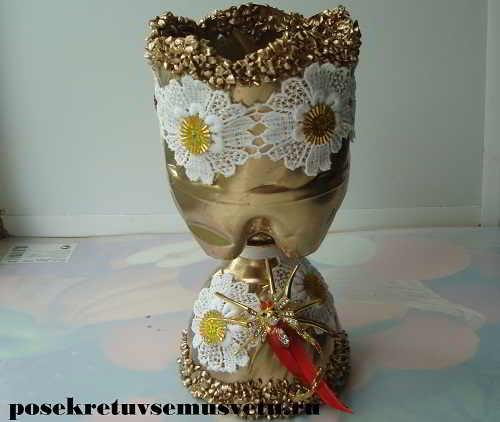 Как из пластиковых бутылок сделать вазу с цветами из