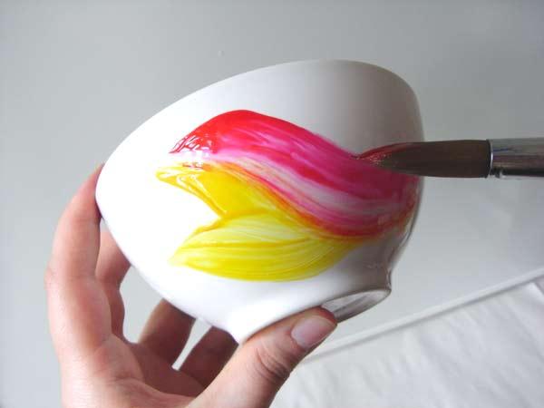 Чем делать роспись по керамике