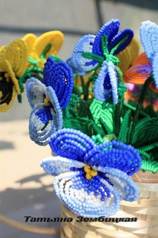 Видео по плетению из бисера цветок 2