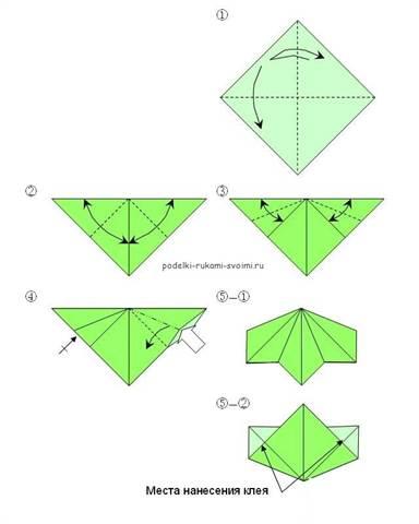 Оригами схемы ваза для цветов 123