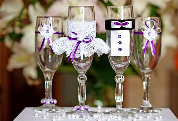 Бокалы для свадьбы своими руками мастер класс фото 15