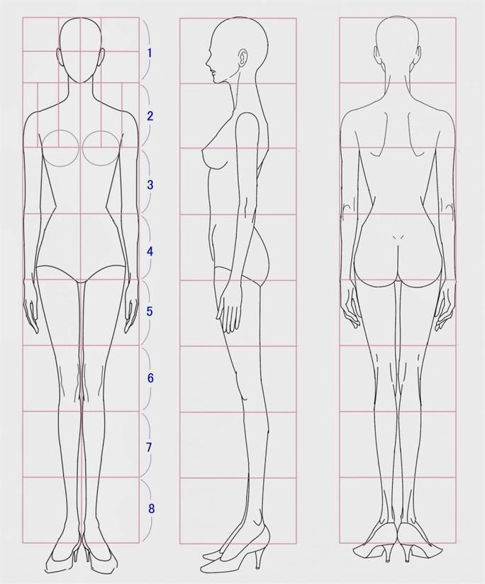 Fashion illustration body templates 53