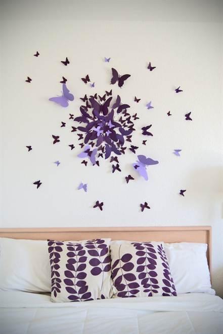 3d бабочки на стену своими руками 138