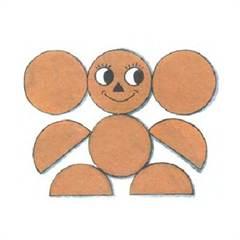 Аппликация из кругов и полукругов