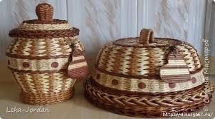 Способы плетения хлебницы из газетных трубочек