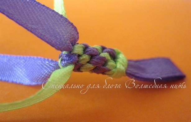 Плетение браслетов с ленточек видео