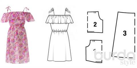 Чтобы сшить 2 платья нужно 5 м ткани