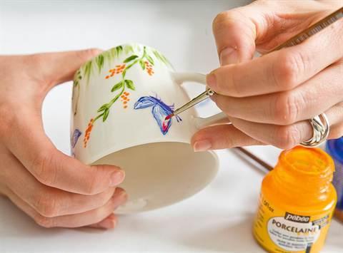 Роспись керамики детей